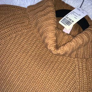 Forever21 Mustard Turtleneck Cropped Sweater - new